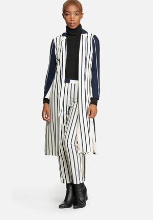 Cool Long Sleeve Long Stripe Blazer