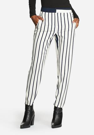 Best Mid Waist Ankle Striped Pants