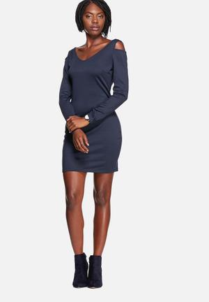 Vero Moda Cut Out Dress Formal Total Eclipse