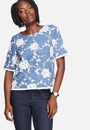 Vero Moda Gita Top Blouses Blue & White