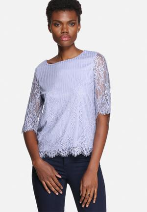 VILA Lasso Lace Top Blouses Eventide