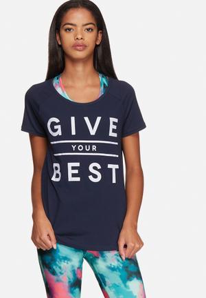 ONLY Play Eleta Regular Tee T-Shirts Navy Blazer