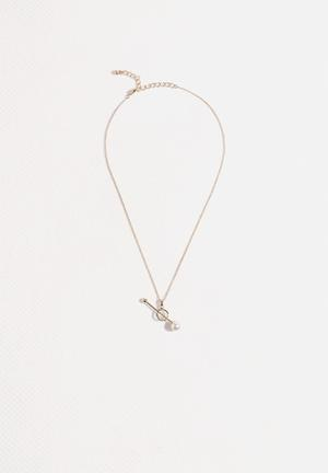 Vero Moda Pearly Necklace Jewellery Pale Gold