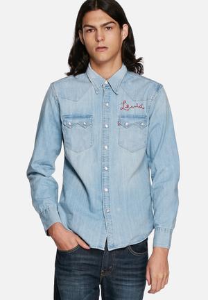 Levi's® Denim Slim Shirt Blue