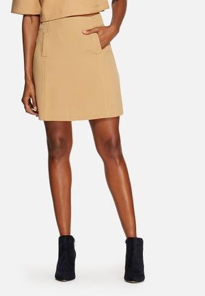 The Fifth Front Row Skirt  Tan