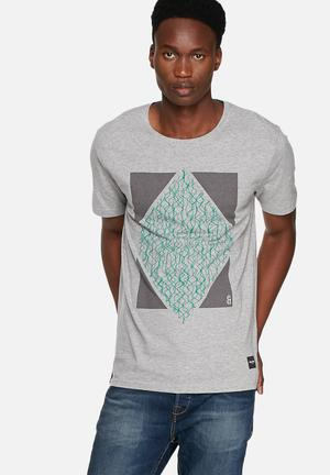 Only & Sons Starsky Tee T-Shirts & Vests Light Grey Melange