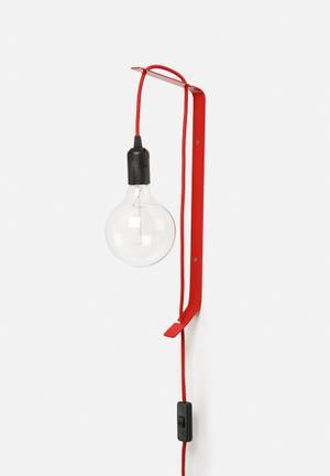Sixth Floor Wall Mounted Flexi Lamp Lighting Red