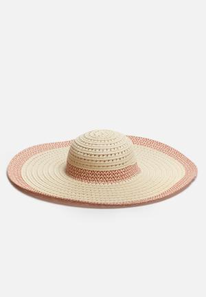 ONLY Elba Sun Hat Headwear Natural & Red