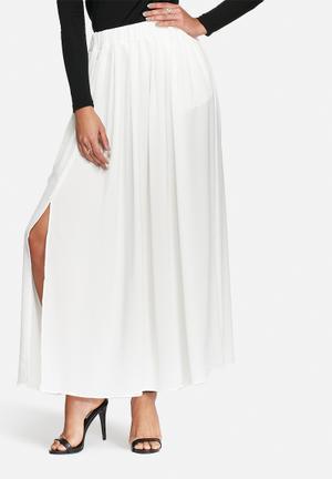 Smart maxi pleated skirt