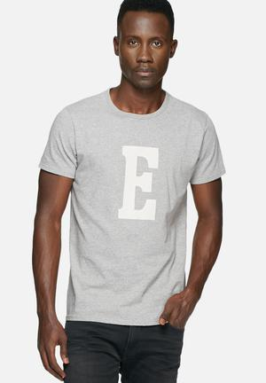 Edwin Logo Tee T-Shirts & Vests Grey