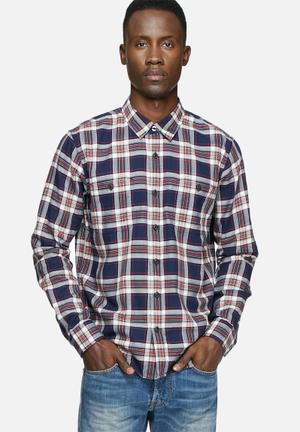 Edwin Labour Slim Shirt Navy