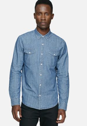 Edwin Memphis Shirt Blue