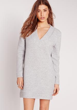 V-neck jumper dress