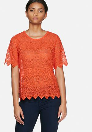 Vero Moda Grita Top Blouses Orange