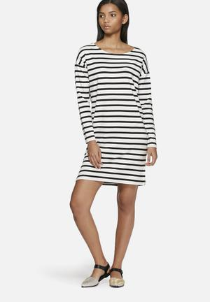 ONLY Argo Dress Casual White & Black