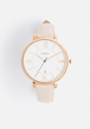 Fossil Jaqueline Watches Blush & White