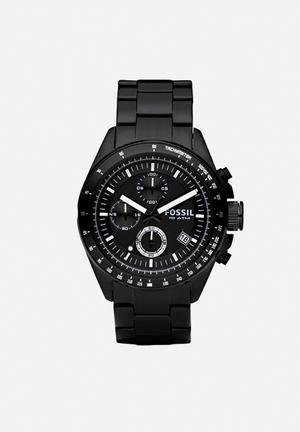 Fossil Decker Watches Black