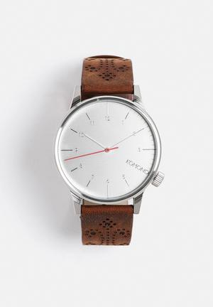 Komono  Winston Brogue Watches Walnut