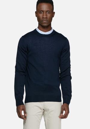 Casual Friday Darren Knit Pullover Knitwear Navy