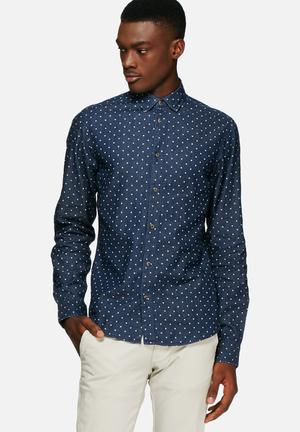 Solid Betwin Shirt Blue