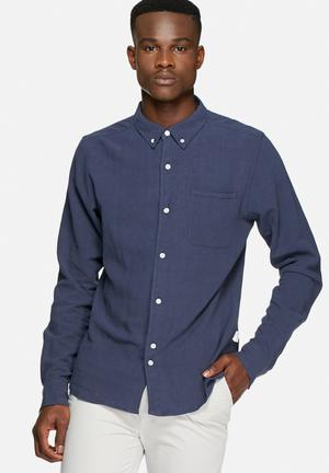 Bellfield Connaught Shirt Blue