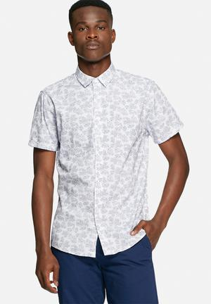 Solid Cadell Shirt White