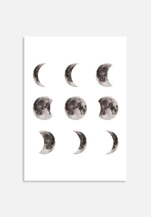 The Glass Mountain Moon Phases Art