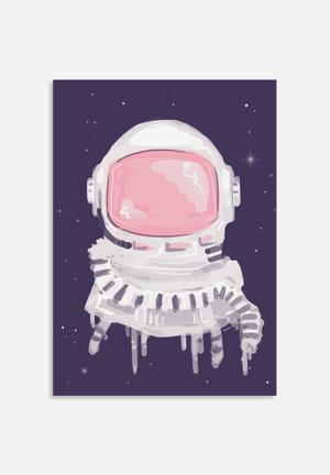The Glass Mountain Astronaut Helmut Art