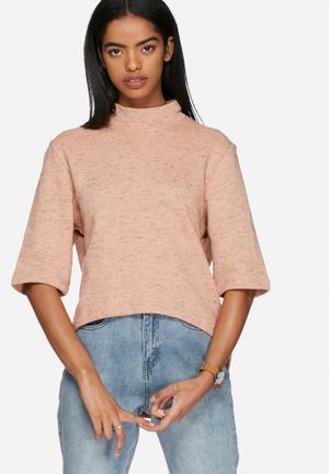 ADPT. Dandy Sweat Top T-Shirts, Vests & Camis Pink / Black