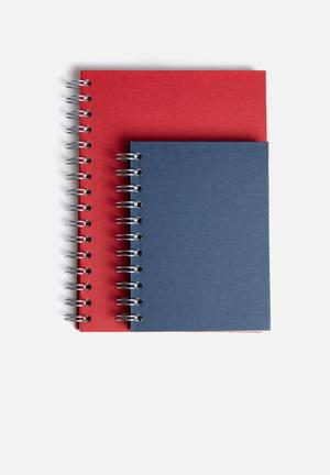 Lined notebook A5 & A6 set