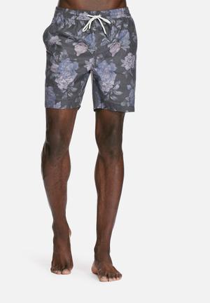 Globe Lynch Pool Shorts Swimwear Charcoal