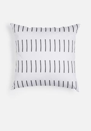 Dash printed cushion
