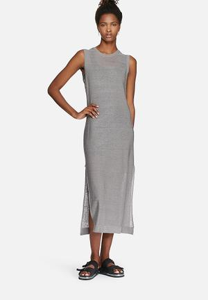 ADPT. Tall Knit Dress Casual Grey