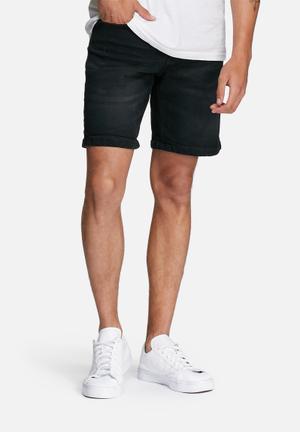 Only & Sons Loom Denim Shorts Black