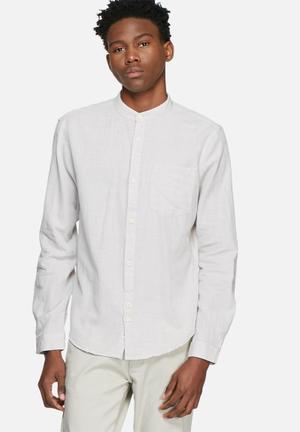 Slub mandarin shirt