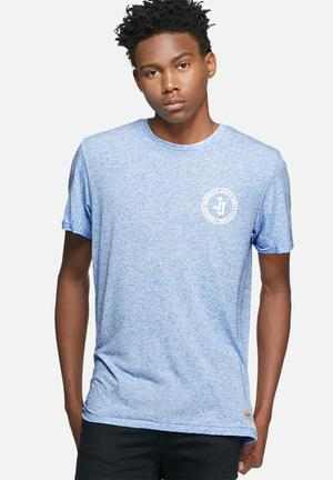 Jack & Jones Pack Logo Tee T-Shirts & Vests Blue