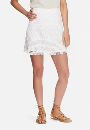 VILA Bassi Skirt White