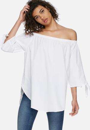 Vero Moda Emilia Off Shoulder Top Blouses White