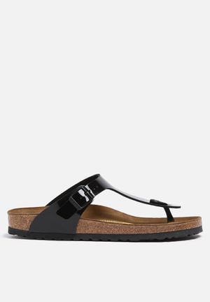 Birkenstock Gizeh Patent Sandals & Flip Flops Black