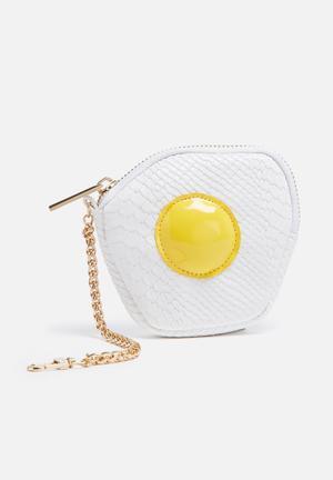 Skinnydip Fried Egg Coin Purse White / Yellow