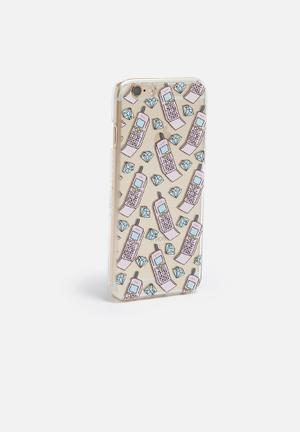 Skinnydip Hotline Bling IPhone 6/6s Cover Clear / Pink
