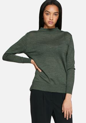 Selected Femme Mero Knit Knitwear Green