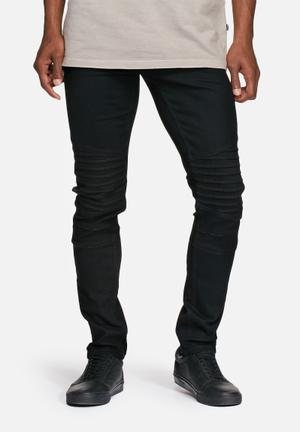 Loom slim biker denim