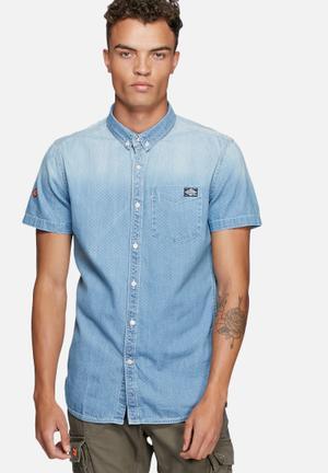 Superdry. London Loom Shirt Blue