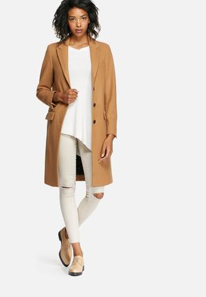 Constract wool coat