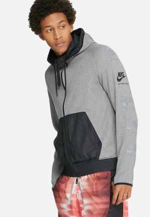 Nike International Hoodie Hoodies, Sweats & Jackets Grey & Black
