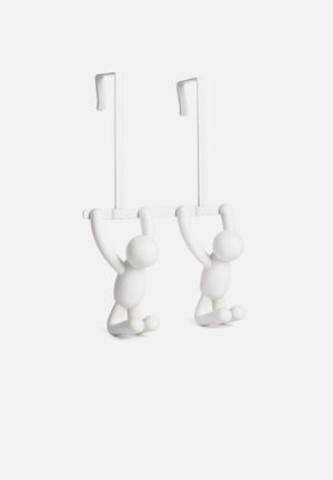 Umbra Buddy Double Over-the-door Hook Bath Accessories Plastic