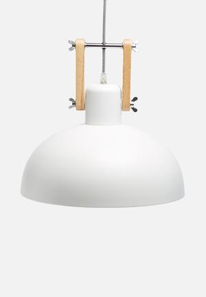 Sixth Floor Metro Pendant Lighting Powder Coated Metal With Wooden Handles