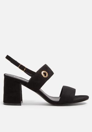 Truffle Newdy Eyelet Sandal Heels Black