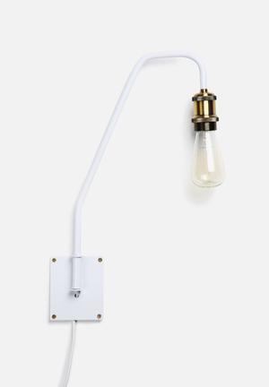 Sixth Floor Shadeless Wall Sconce Lighting White